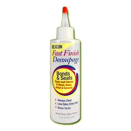 Beacon Adhesives - Fast Finish Decoupage Glue - 8 oz. Bottle