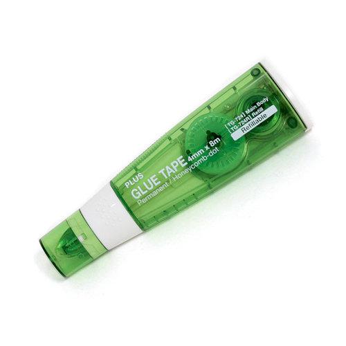Plus Corporation - Double Sided Glue Tape - Dispenser - Permanent - 4 mm