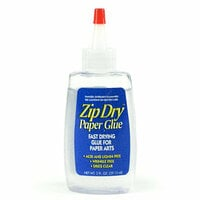 Zip Dry Paper Glue - For Crafts - 2 ounce