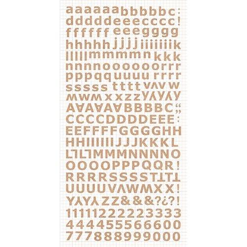 Kaisercraft - Alphabet Stickers - Natural