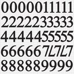 Kaisercraft - Alphabet Stickers - Number - Ebony