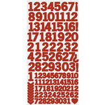 Kaisercraft - Cardstock Stickers - Numbers - Red