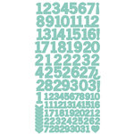 Kaisercraft - Cardstock Stickers - Numbers - Sea Green