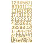 Kaisercraft - Foil Cardstock Stickers - Numbers - Metallic Gold