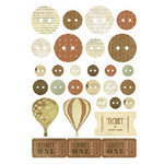 Kaisercraft - Up, Up and Away Collection - Printed Chipboard
