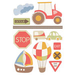 Kaisercraft - Little Toot Collection - Printed and Layered Chipboard