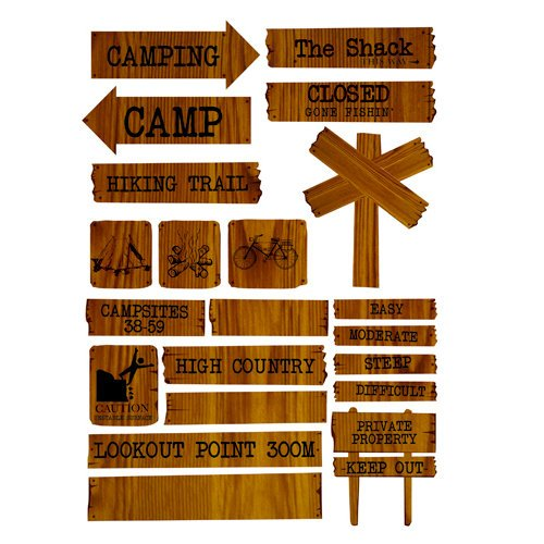 Kaisercraft - Hunt and Gather Collection - Printed Chipboard