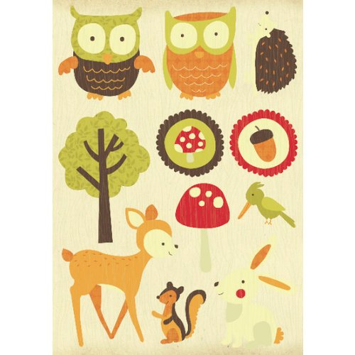 Kaisercraft - Tiny Woods Collection - Printed and Layered Chipboard