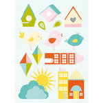 Kaisercraft - Fine and Sunny Collection - Layered and Printed Chipboard