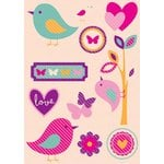 Kaisercraft - Butterfly Kisses Collection - Printed and Layered Chipboard