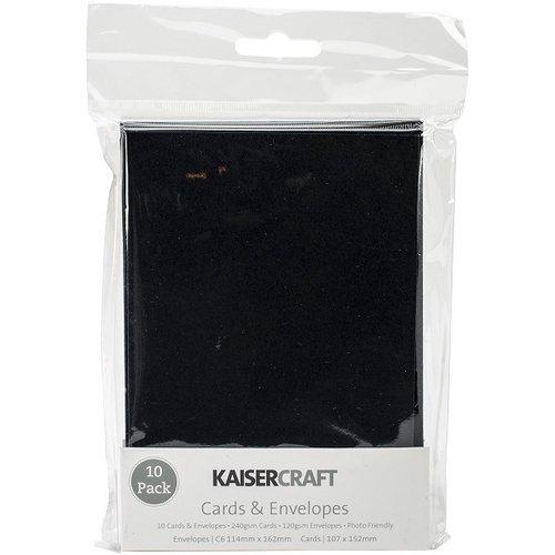 Kaisercraft - Card and Envelopes - C6 - Black