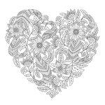 Kaisercraft - Kaisercolour - Card - Floral Heart