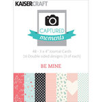 Kaisercraft - Captured Moments Collection - 3 x 4 Double Sided Journal Cards - Be Mine