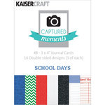 Kaisercraft - Captured Moments Collection - 3 x 4 Double Sided Journal Cards - School Days