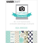 Kaisercraft - Captured Moments Collection - 3 x 4 Double Sided Journal Cards - Sea Breeze