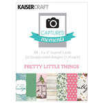 Kaisercraft - Captured Moments Collection - 3 x 4 Double Sided Journal Cards - Pretty Little Things