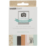 Kaisercraft - Captured Moments Collection - 3 x 4 Double Sided Journal Cards - Necessities