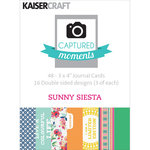 Kaisercraft - Captured Moments Collection - 3 x 4 Double Sided Journal Cards - Sunny Siesta