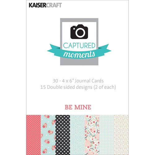 Kaisercraft - Captured Moments Collection - 4 x 6 Double Sided Journal Cards - Be Mine