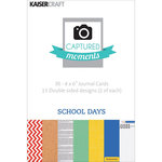 Kaisercraft - Captured Moments Collection - 4 x 6 Double Sided Journal Cards - School Days