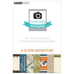 Kaisercraft - Captured Moments Collection - 4 x 6 Double Sided Journal Cards - A is for Adventure