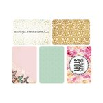 Kaisercraft - Captured Moments Collection - 4 x 6 Double Sided Journal Cards - Sparkle