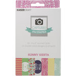 Kaisercraft - Captured Moments Collection - 4 x 6 Double Sided Journal Cards - Sunny Siesta
