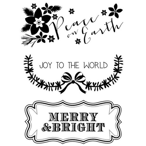 Kaisercraft - Holly Bright Collection - Christmas - Clear Acrylic Stamp - Peace