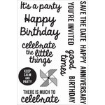 Kaisercraft - Pop Collection - Clear Acrylic Stamps - Quotes