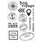 Kaisercraft - Wanderlust Collection - Clear Acrylic Stamps