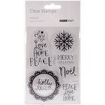 Kaisercraft - Holly Jolly Collection - Christmas - Clear Acrylic Stamps