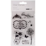 Kaisercraft - Fairy Dust Collection - Clear Acrylic Stamps