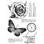 Kaisercraft - Treasured Moments Collection - Clear Acrylic Stamps