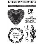 Kaisercraft - True Love Collection - Clear Acrylic Stamps