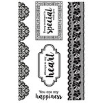Kaisercraft - Cottage Rose Collection - Clear Acrylic Stamps