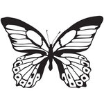 Kaisercraft - Clear Acrylic Stamps - Background - Majestic Butterfly