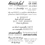 Kaisercraft - Clear Acrylic Stamps - Sentiments - Moments