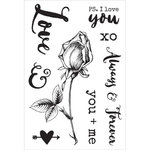 Kaisercraft - Always and Forever Collection - Clear Acrylic Stamps