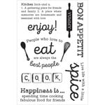 Kaisercraft - Bon Appetit Collection - Clear Acrylic Stamps