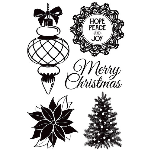Kaisercraft - Christmas Wishes Collection - Clear Acrylic Stamps