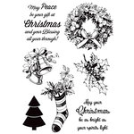 Kaisercraft - Silent Night Collection - Christmas - Clear Acrylic Stamps