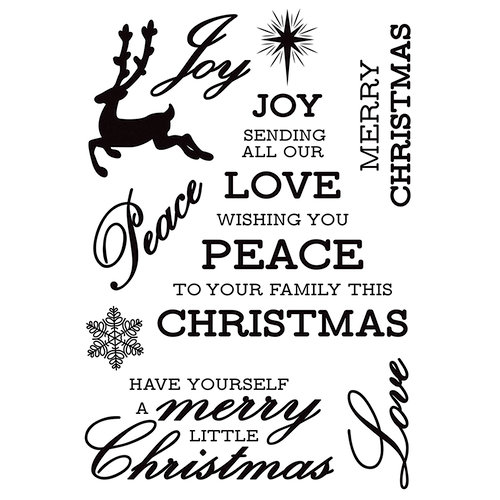 Kaisercraft - Glisten Collection - Christmas - Clear Acrylic Stamps