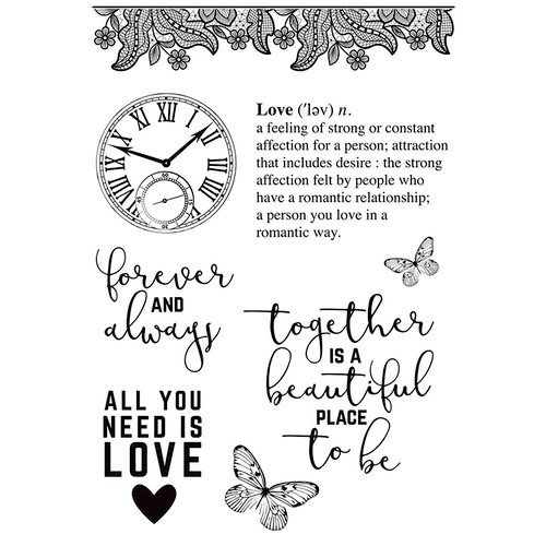 Kaisercraft - P.S. I Love You Collection - Clear Acrylic Stamps