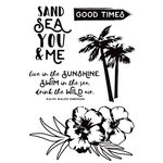 Kaisercraft - Island Escape Collection - Clear Acrylic Stamps