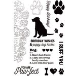 Kaisercraft - Pawfect Collection - Clear Acrylic Stamps - Dog