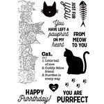 Kaisercraft - Pawfect Collection - Clear Acrylic Stamps - Cat