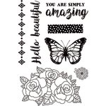 Kaisercraft - Indigo Skies Collection - Clear Acrylic Stamps