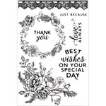 Kaisercraft - Sage and Grace Collection - Clear Acrylic Stamps