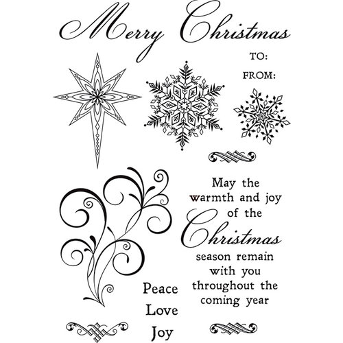 Kaisercraft - Christmas Jewel Collection - Clear Acrylic Stamps