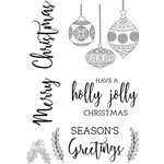 Kaisercraft - Mint Wishes Collection - Christmas - Clear Acrylic Stamps